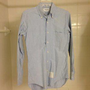 Thom Browne Light Blue OCBD Shirt TB 1 Small